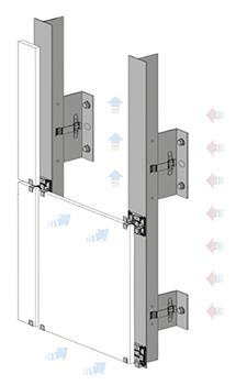 Sistema de anclaje para fachada ventilada